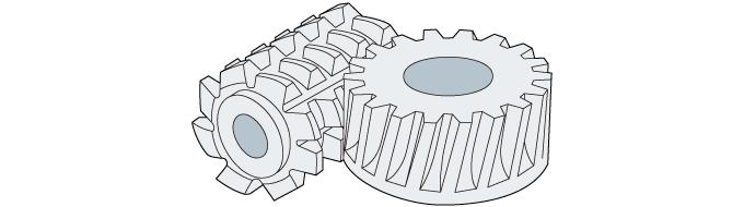 滚齿机切齿加工的模型图